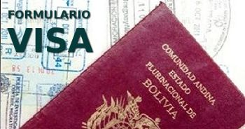 Formulario de solicitud de Visa para viajar a Bolivia
