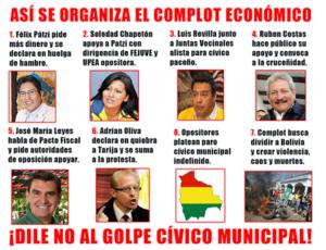 DENUNCIAN CONSPIRACION CIVICO-MUNICIPAL