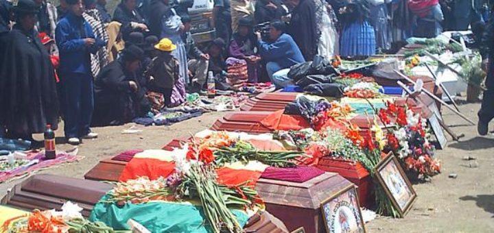 Resultado de imagen para masacre de octubre 2003 berzain
