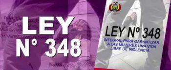 Ley 348 para garantizar a la mujer una vida libre de violencia